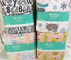 PILLOWFORT FLANNEL SHEET SET QUEEN PENGUIN, CACTUS,  ALPHABET, HIPSTER ANIMAL