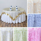 """24 Embroidered Organza 85x85"""" SQUARE Large Table OVERLAYS..."""