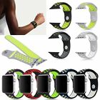 Replacement Soft Silicone Sports Band Bracelet Strap For Apple Watch 38mm 42mm