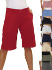 NEW (1492) Ladies Smart Washable Day Evening Tailored Shorts 8-22