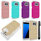 For Samsung Galaxy S7 Edge G935 Luxury HYBRID Bling Case Phone Cover + Pen