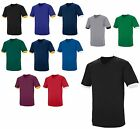 MEN'S SHORT SLEEVE, COTTON/POLY, LAP OVER COLLAR, JERSEY STYLE T-SHIRT, XS-3XL