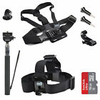 EEEKit Chest Head Strap Mount Selfie Stick+SanDisk 16GB Card for Action Camera