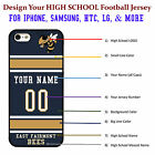 Design Your Favorite College Football Jersey phone Case Cover for iPhone Samsung