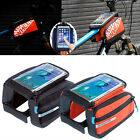 Bike Bicycle Front Tube Bag Frame Pannier Touchscreen Pouch For Big Phone 5.7""