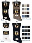 12 Mens No Non Elastic 100% Cotton BIG FOOT Loose Wider Top Socks UK 11-14