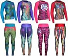 BEX OFFER RASH GUARD SUBLIMATED-FITNESS WOMEN WEAR-YOGA SLEEVE COMPRESSION SUIT