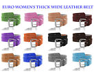 Hot Trend! Best Selling!! EURO Women's Thick Wide 2 Hole Leather Belt - BN9041