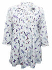 New Ladies Ex M&S Light Cotton Print Collared Shirt Blouse Top Dress Sizes 8-18