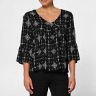 NEW Lily Loves Tie Back Peasant Top