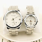 Fashion Men's Women Casual Luxury Date Stainless Steel Analog Quartz Wrist Watch