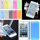 For Apple iPhone 5 5S US New 0.5mm Ultra Thin Slim Matte Snap On Hard Case Cover