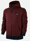 NIKE AW77 Med-3XL FRENCH TERRY SHOEBOX FULL ZIP HOODIE TEAM RED 678560-677