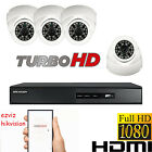 4x HD 1080P CCTV CAMERA SYSTEM OUTDOOR DVR HIKVISION 4CH P2P REMOTE VIEW FULL HD
