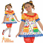 Childs Clown Costume Boys Circus Jumpsuit Girls Fancy Dress Kids Carnival Outfit