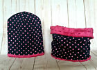 Girls / Kids Hat With tube Scarf Cotton/Minky DOUBLE-SIDED /1-3 years