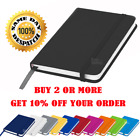 A5 A6 NEW LINED HARDBACK NOTEPAD NOTEBOOK NOTE BOOK NOTES JOURNAL DIARY COLOURS