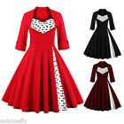 50s DRESSES Vintage Retro Swing Pinup Housewife Prom Tea Party Evening Dress