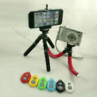 Selfie Mini Octopus Sponge Mobile Tripod+Holder Clip Mount+Remote Shutter SET