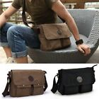 Vintage Men's Canvas Leather Shoulder School Military Satchel Bag Messenger New
