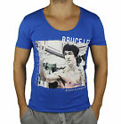 Bruce Lee T-Shirt ReRock by Young & Rich Grigio Blu Kampf Sport Fitness MMA GYM