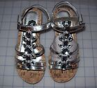GIRLS TOTAL GIRL WILLA SILVER WEDGE STRAPPY  SANDALS NEW IN BOX MSRP$40