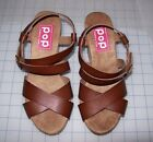 WOMEN'S POP CANYON FAUX - WOOD WEDGE SANDALS NEW IN BOX MSRP$60.00