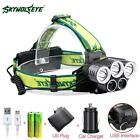 40000LM 5X XML T6 LED Rechargeable USB Headlamp Headlight +Battery AC Charger DH