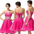 Strapless Satin Ball Cocktail Evening Prom Party Corset Dress Bridesmaid Formal