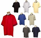MEN'S EASY CARE, RELAXED FIT, GOLF CUT, PIQUE POLO SHIRT, POCKET, STRIPES XS-6XL