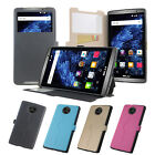 4 Colors Windows PU Stander Card Solt Pu Cover Case For BLU STUDIO XL LTE