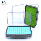 Waterproof Fly Box Easy Grip Tackle Box Silicone Insert Double-Sided Fishing Box
