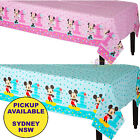 MICKEY OR MINNIE MOUSE 1ST BIRTHDAY PARTY SUPPLIES PLASTIC TABLECLOTH TABLECOVER
