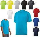 MEN'S SHORT SLEEVE, POLY JERSEY, WICKING, CREWNECK, ATHLETIC T-SHIRT, XS-4XL