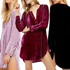 2017 Fashion Womens Long Sleeve Loose Dress Ladies Blouse T Shirt Romper Dresses