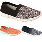 New Womens Ladies Slip On Mesh Sports Fitness Walking Sneakers Pumps Shoes Sizes