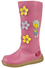 Girls Fifi And The Flowertots Knee High Boots Faux Leather Pink Flower Shoes