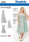 Simplicity Sewing Pattern Amazing Fit Plus Size Dresses | 8096
