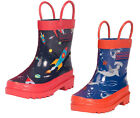Target Dry Oscar Boys Kids Waterproof Lined Welly Boots