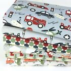 Zoom grey  Childrens themed FQ Bundle & Fabrics PER Half Metre 100% Cotton
