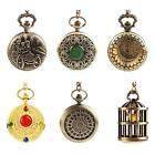 Newest Sweet Bronze Pocket Watch Design Quartz Watch Pendant Chain Necklace RT