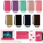 Genuine Real Leather Wallet Card Stand Flip Cover TPU Case (HM) For Lot phone