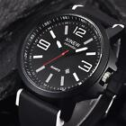 Men's Rubber Waterproof Date Watch Big Dial Quartz Analog Wrist Watches RT