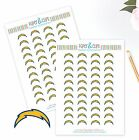 Los Angeles Chargers Planner Stickers - Perfect for Planners like Erin Condren $4.0 USD on eBay