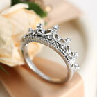 New Fashion Exquisite Imperial Crown Alloy Wedding Ring Jewelry For Women Girl
