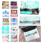 For Macbook laptop Same Colorful Painting Hard Rubberized Cover Case+Silicone KB