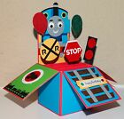 HAPPY BIRTHDAY HANDMADE 3D POP UP GREETING CARDS, with envelope