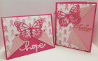 Handcrafted Greeting Cards - Thinking of You - Pink - Breast Cancer Survivor