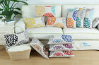 Pack of 2 Three-tone Florals Pattern Cushion Covers Boudoir Shells Decor 30x50cm