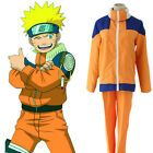 Naruto Uzumaki Childhood Anime Cosplay Costume Coat +Pant +Free Track Number